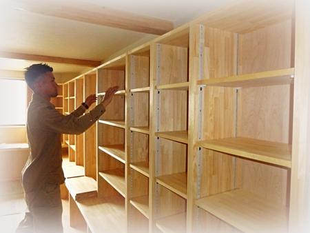 駿河区O様邸の「我が家の図書館」