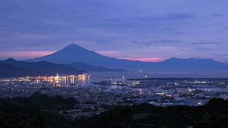 今朝の富士山  日本平より