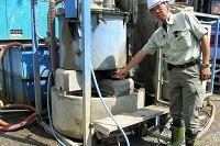 硬化材の湿式攪拌