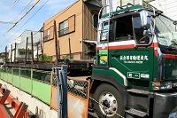 鉄骨運搬車両