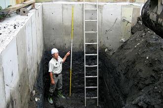 ラップルコンコンクリート根切底確認