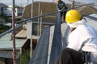 金属製屋根材の施工状況
