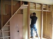 既設の階段した収納のリフォーム
