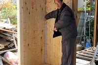 既設の土台までしっかりと構造合板によって耐震壁に