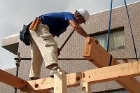 木造軸組建て方作業