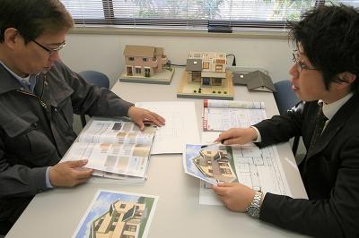 住宅模型打合