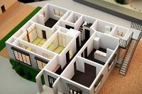 住宅模型(1階内部)静岡市駿河区