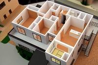 住宅模型(2階内部)静岡市駿河区
