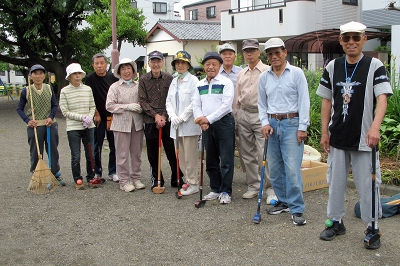 町内のグランドゴルフ『全員集合~!』