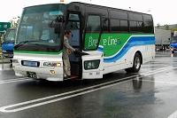 27人乗りバスにて地球環境祭を目指す
