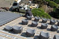 日本瓦葺き(桟葺き工法)