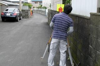狭隘道路申請に伴う測量作業