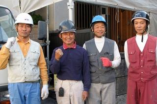 既設屋根の改修(野地板補強工事まで)施工メンバー