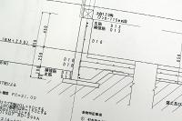 耐圧版鉄筋配筋施工図(断面図)