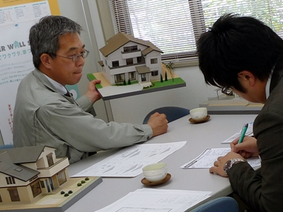 静岡市駿河区S邸の住宅模型制作打合せ